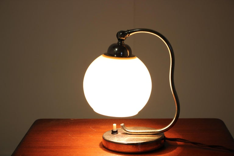 Czech Art Deco Table Lamp, 1930s For Sale