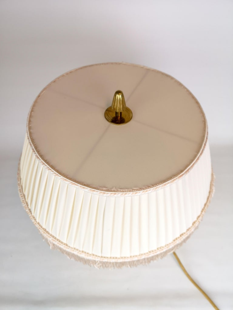 Swedish Art Deco Table Lamp Brass and Teak, Sweden, 1930s For Sale