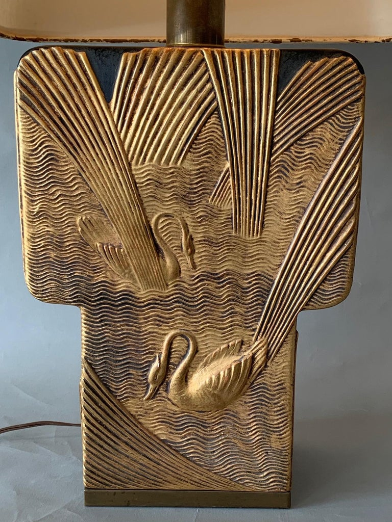 Art Deco Table Lamp by Chapman, 1982 In Good Condition For Sale In St.Petersburg, FL