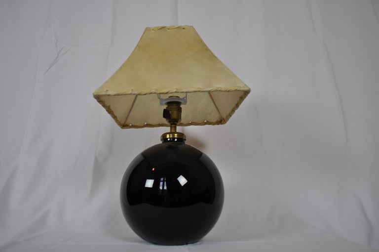 Art Deco Table Lamp by Jacques Adnet, 1940 In Good Condition For Sale In Paris, FR
