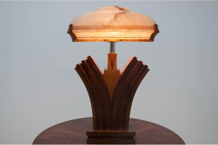 Art Deco style lamp comes from Spain. 
