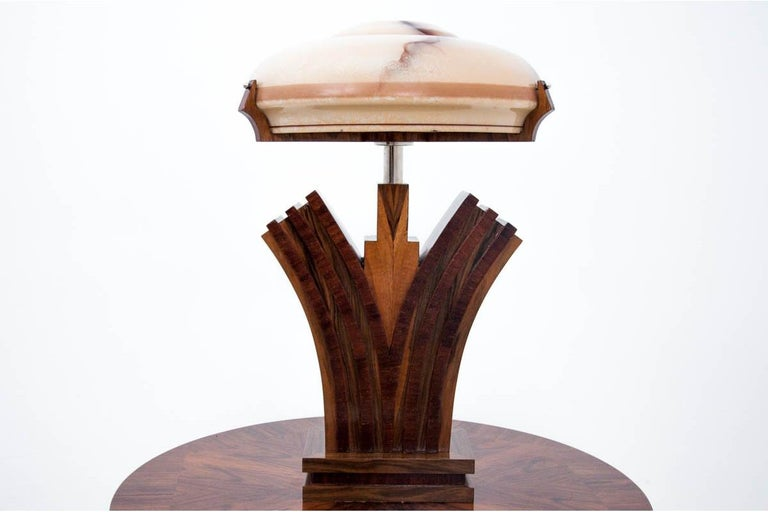 Art Deco Table Lamp In Good Condition For Sale In Chorzów, PL