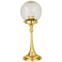 Art Deco Table Lamp Vienna around 1920s with Original Shade