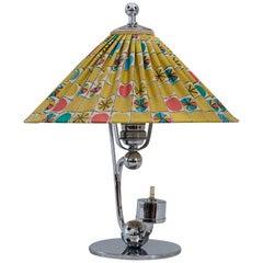 Art Deco Table Lamp Vienna with Original Fabric Shade, circa 1930s
