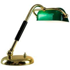 Art Deco Table Lamp with Original Antique Glass, circa 1920s