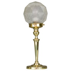 Art Deco Table Lamp with Original Glass Shade, circa 1920s