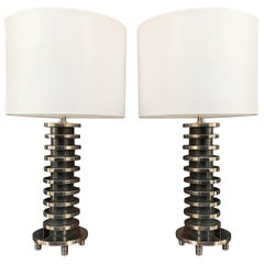 Art Deco Table Lamps in the Style of Donald Deskey
