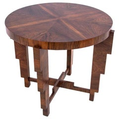 Art Deco Table, Poland, 1950s, after Renovation
