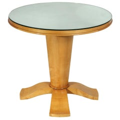 Art Deco Table with Mirrored Top, circa 1940
