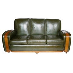 Art Deco Tank Sofa Attributed to Heal's of London
