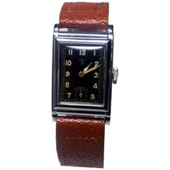 Art Deco Tank Style Men's Wristwatch