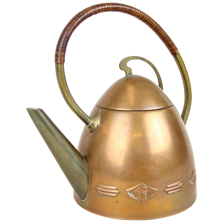 Art Deco Teapot Attributed To Carl Auböck, Austria, circa 1925