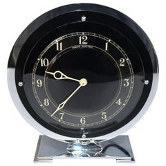 Art Deco Temco Chrome Electric Mantel Clock, 1930s