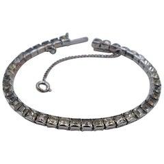 Art-Deco Tennis Bracelet With Faux Diamonds 1930's