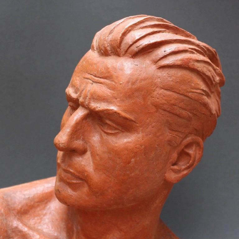 Art Deco Terracotta Sculpture Bust of Man by Demétre H. Chiparus, circa 1930s For Sale 6