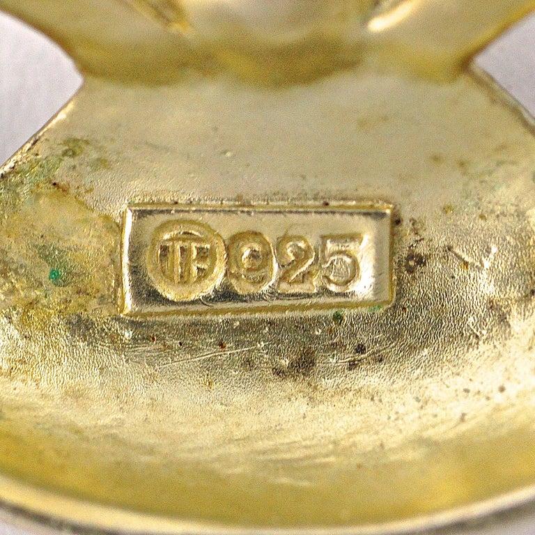 Art Deco Theodor Fahrner Sterling Silver Gilt Marcasite Cultured Pearl Necklace For Sale 1