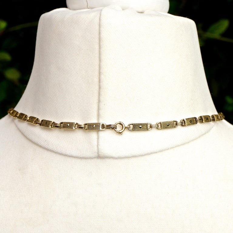 Art Deco Theodor Fahrner Sterling Silver Gilt Marcasite Cultured Pearl Necklace For Sale 4