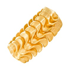 Art Deco Thirties Italian Gold Bracelet