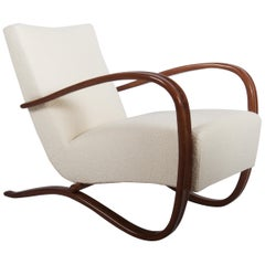 Art Deco Thonet H269 Armchair Boucé Fabric by Jindrich Halabala