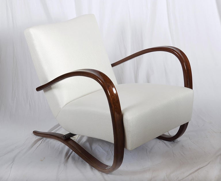 Art Deco Thonet H269 Armchair by Jindrich Halabala In Excellent Condition For Sale In Vienna, AT