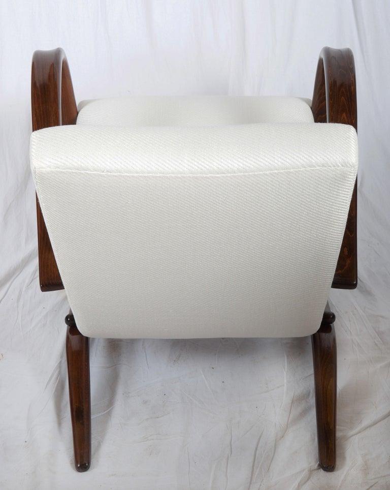 Art Deco Thonet H269 Armchair by Jindrich Halabala For Sale 1