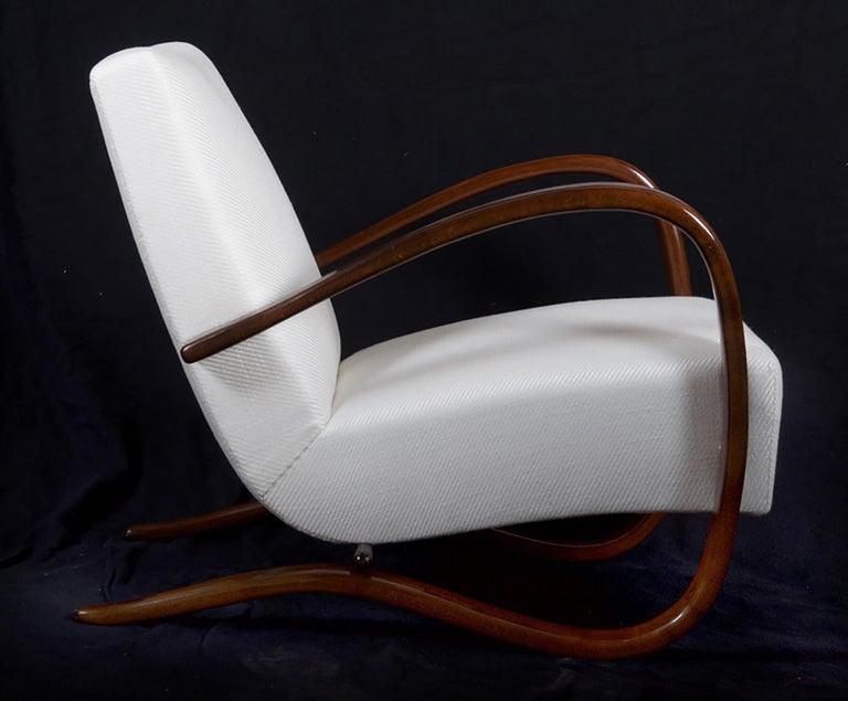 Art Deco Thonet H269 Armchair by Jindrich Halabala For Sale 2
