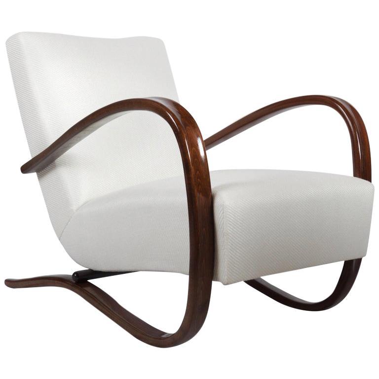 Art Deco Thonet H269 Armchair by Jindrich Halabala For Sale