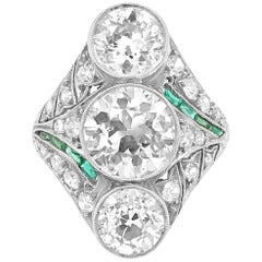 Art Deco Three Diamond Ring