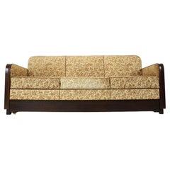 Art Deco Three-Seater Sofa Designed by Jindřich Halabala, 1930's