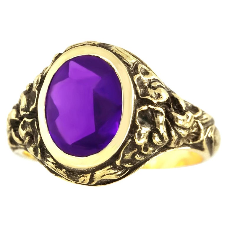07f79be66 Art Deco Tiffany and Co. Amethyst Set of Gold Ring For Sale at 1stdibs