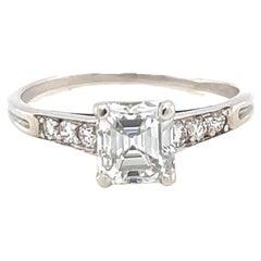 Art Deco Tiffany & Co. GIA Diamond Platinum Solitaire Engagement Ring