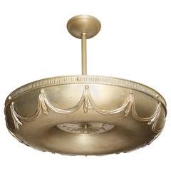 Art Deco Torus Pendant Light by David Duncan