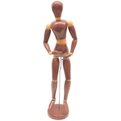 Art Deco Traditional Wooden Large Artist Mannequin Model