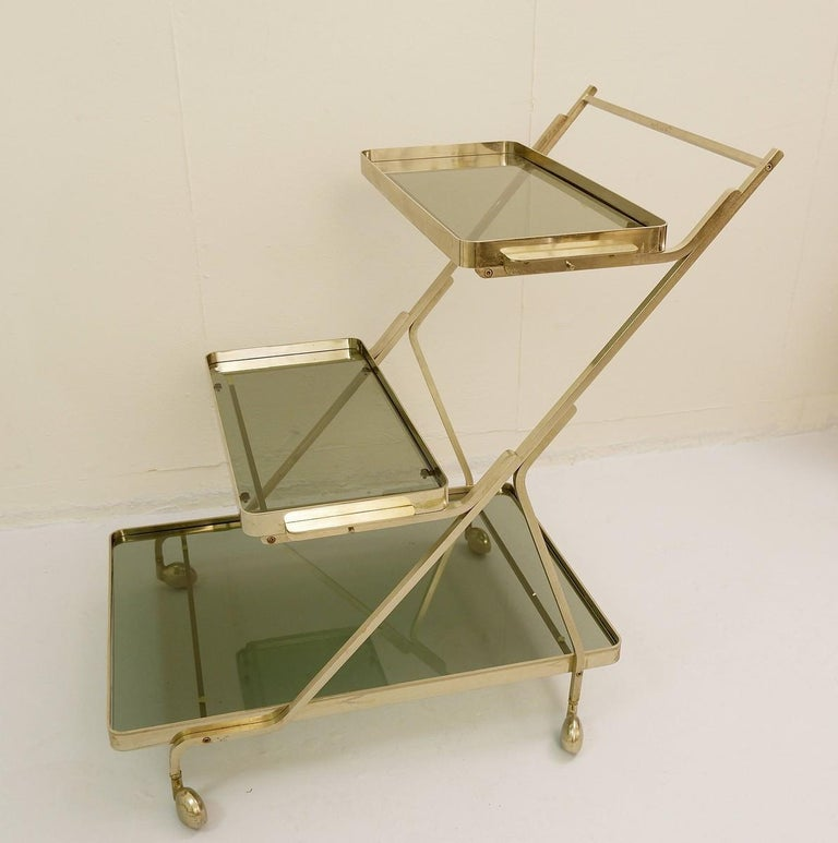 Art Deco trolley with removable tray.