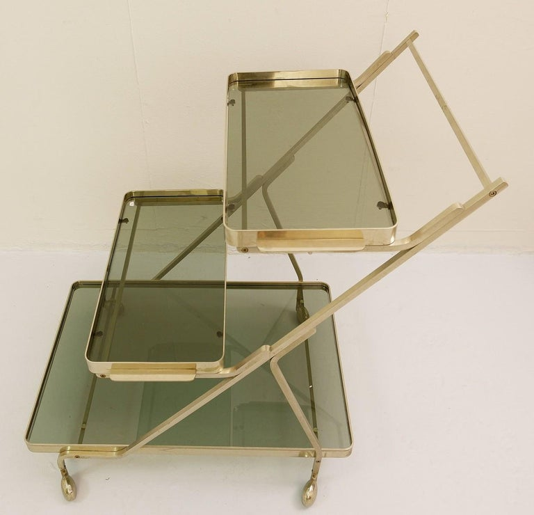 Art Deco Trolley with Removable Tray In Good Condition For Sale In Brussels, BE