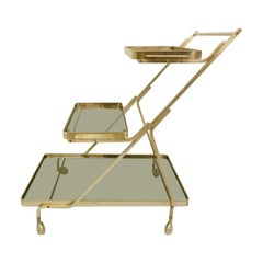 Art Deco Trolley with Removable Tray