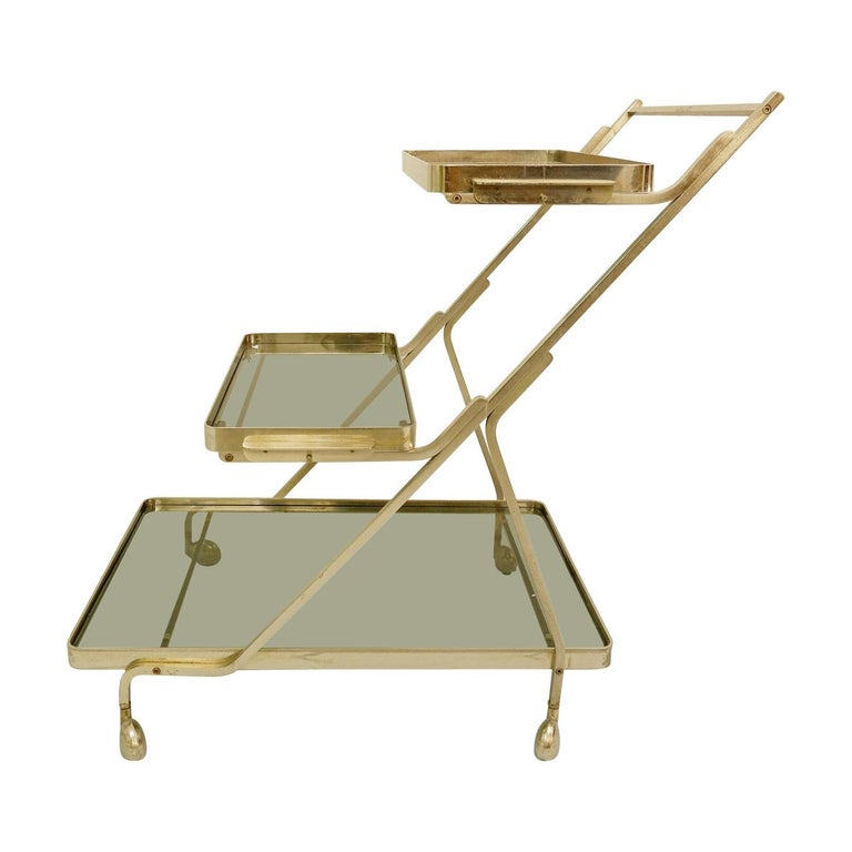 Art Deco Trolley with Removable Tray For Sale