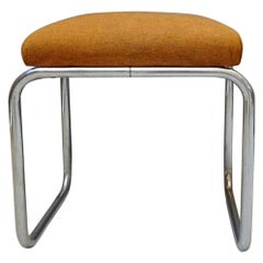 Art Deco Tubular Bauhaus Stool, Germany, 1930s