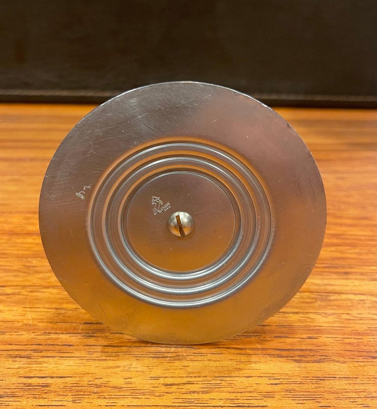 Art Deco Tubular Chrome Bud Vase by Ruth & William Gerth for Chase Co For Sale 1