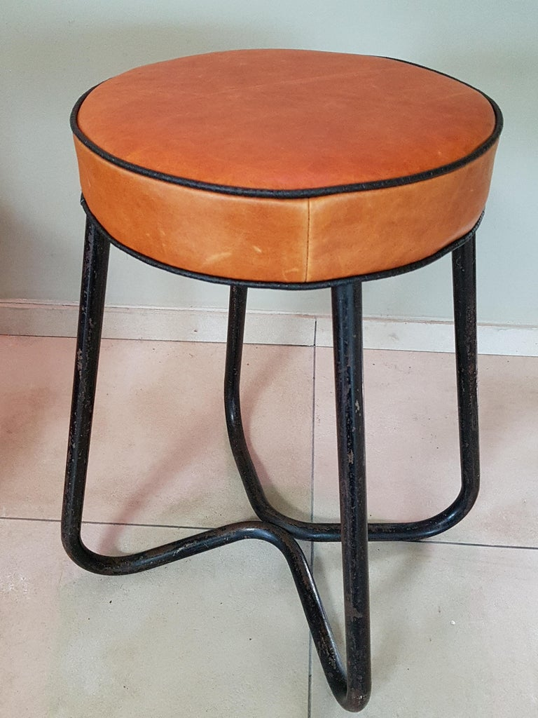 Art Deco Tubular Marcel Breuer for Thonet Stool B77 Bauhaus, 1930 For Sale 5