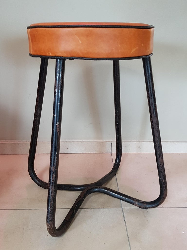 Art Deco Tubular Marcel Breuer for Thonet Stool B77 Bauhaus, 1930 For Sale 11