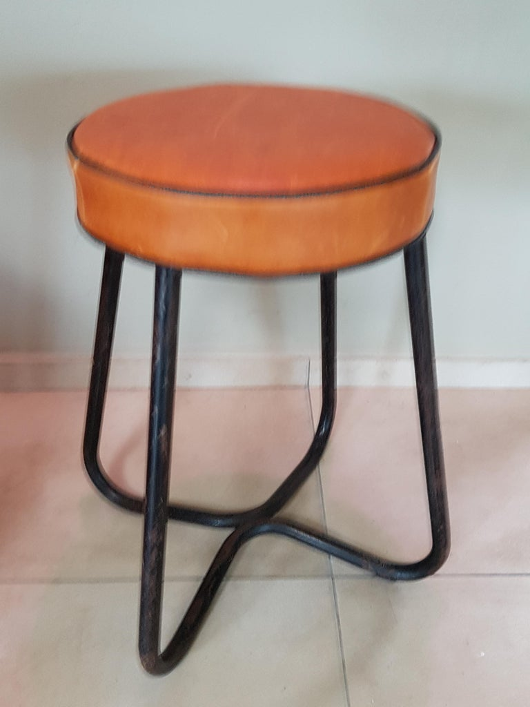 Art Deco Tubular Marcel Breuer for Thonet Stool B77 Bauhaus, 1930 For Sale 12