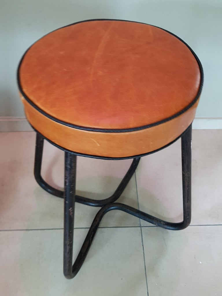 Art Deco Tubular Marcel Breuer for Thonet Stool B77 Bauhaus, 1930 In Good Condition For Sale In Saarbruecken, DE