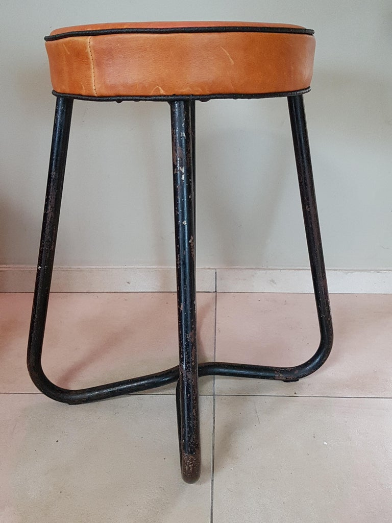 Mid-20th Century Art Deco Tubular Marcel Breuer for Thonet Stool B77 Bauhaus, 1930 For Sale