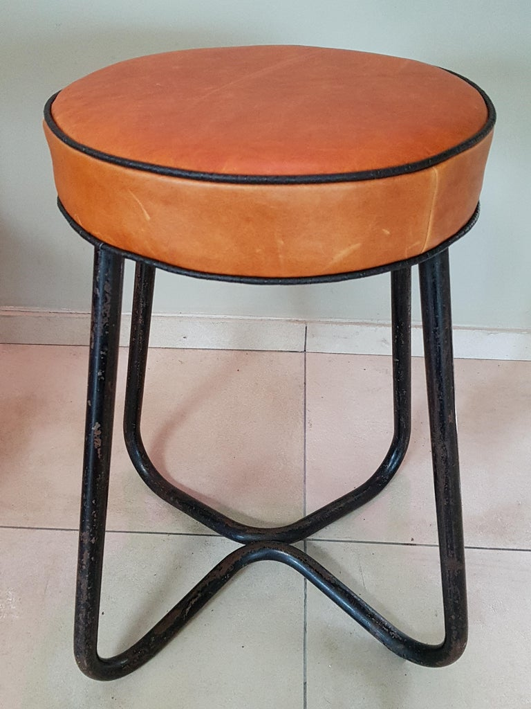 Art Deco Tubular Marcel Breuer for Thonet Stool B77 Bauhaus, 1930 For Sale 2