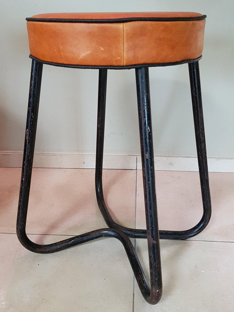 Art Deco Tubular Marcel Breuer for Thonet Stool B77 Bauhaus, 1930 For Sale 3