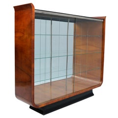 Art Deco Tulip Display Cabinet by J. Halabala 1930 UP Zavody Brno