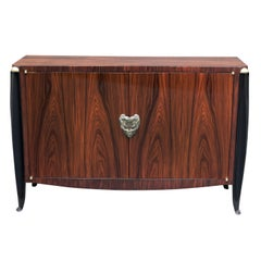 Art Deco Two Door Cabinet Attributed to Jean Pascaud