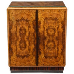 Art Deco Two-Door Heartwood Enclosed Chest of Drawers