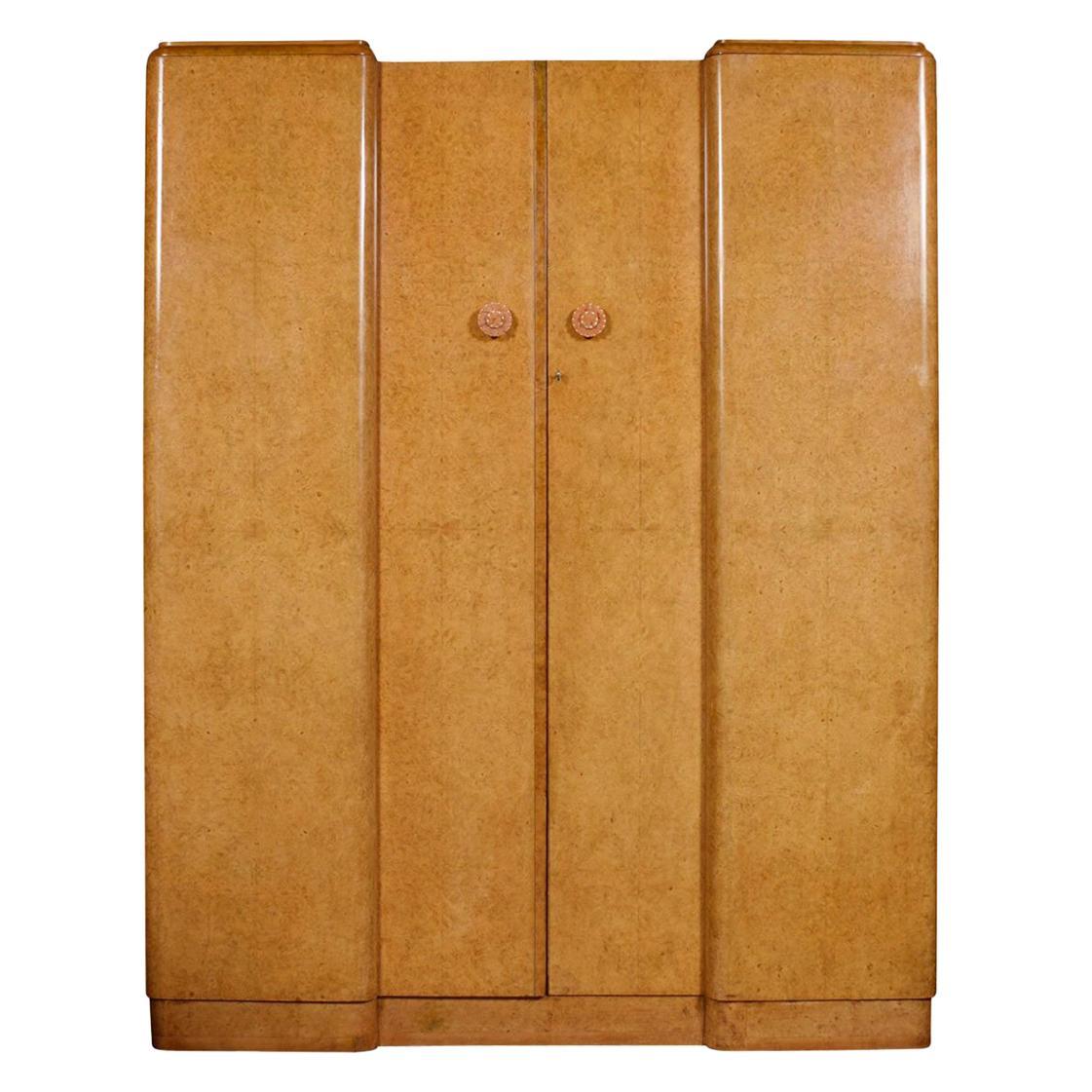 Art Deco Two-Door Wardrobe